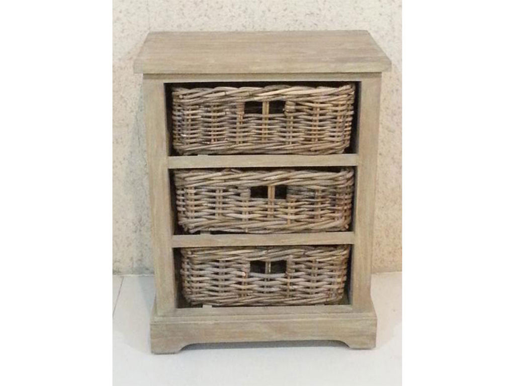 chest of 3 rattan baskets singapore