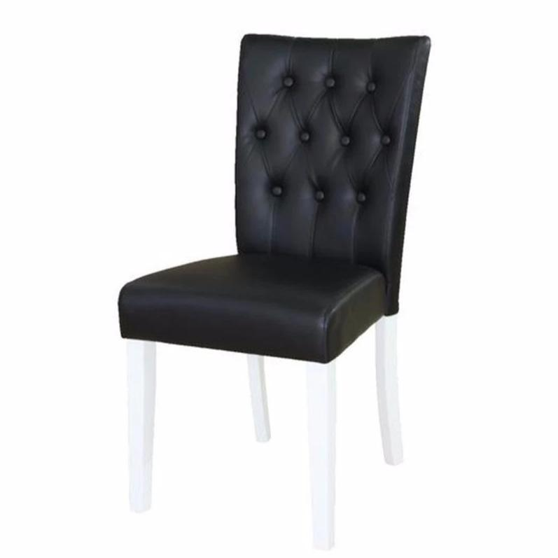 SALE - Parson Dining Chair in black PU leather