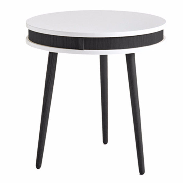 black white designer side table