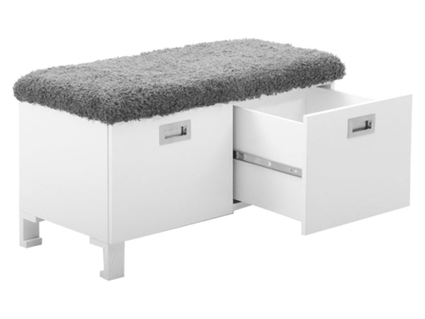 2 drawers chests with furry seat