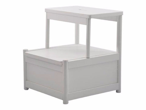 FAME Storage Step Stool, white