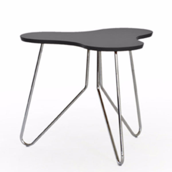 Black organic shape side table