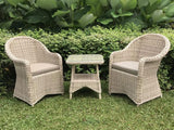 Norma synthetic outdoor wicker cafe set