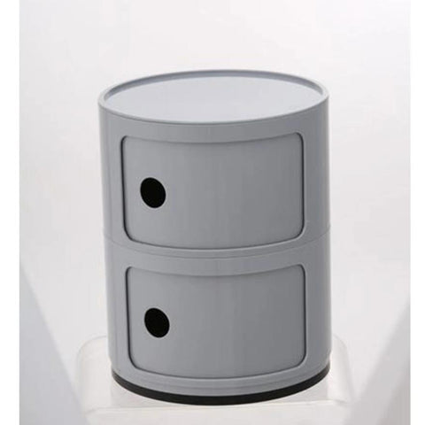 Drum Cabinet with 2 Doors, grey