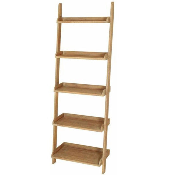 wooden Leaning ladder display book shelves singapore