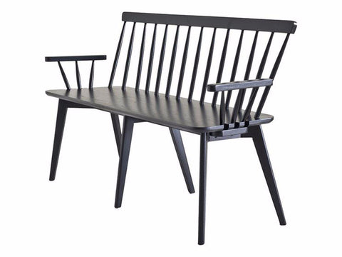Linkoping bench black