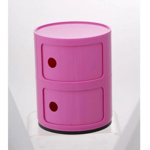 Drum Cabinet with 2 Doors, pink