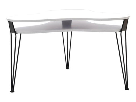 retro modern contemporary coffee table with hairpin metal legs