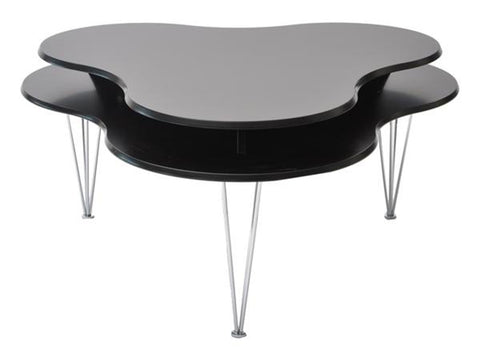 Black organic shape coffee table - CLOUD