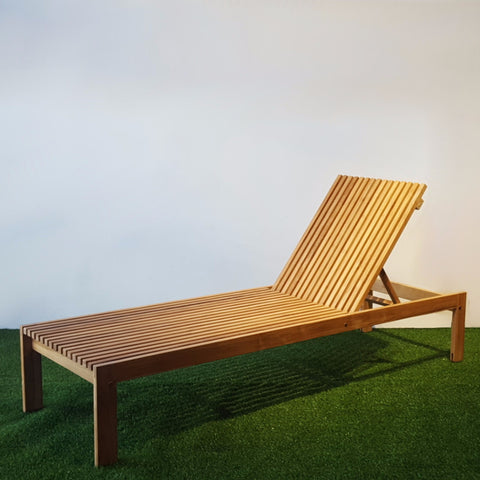 Teak Wood Sun Lounger