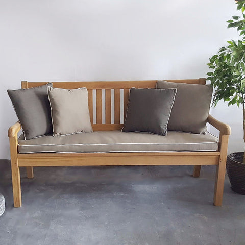 landhaus outdoor teak bench 3 seater 160cm hemma online. Black Bedroom Furniture Sets. Home Design Ideas