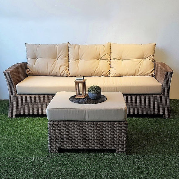 Outdoor wicker 3 seater sofa Singapore