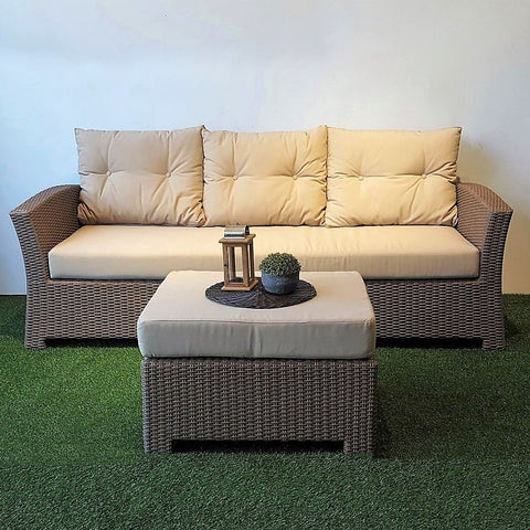 Miami Outdoor sofa and ottoman set
