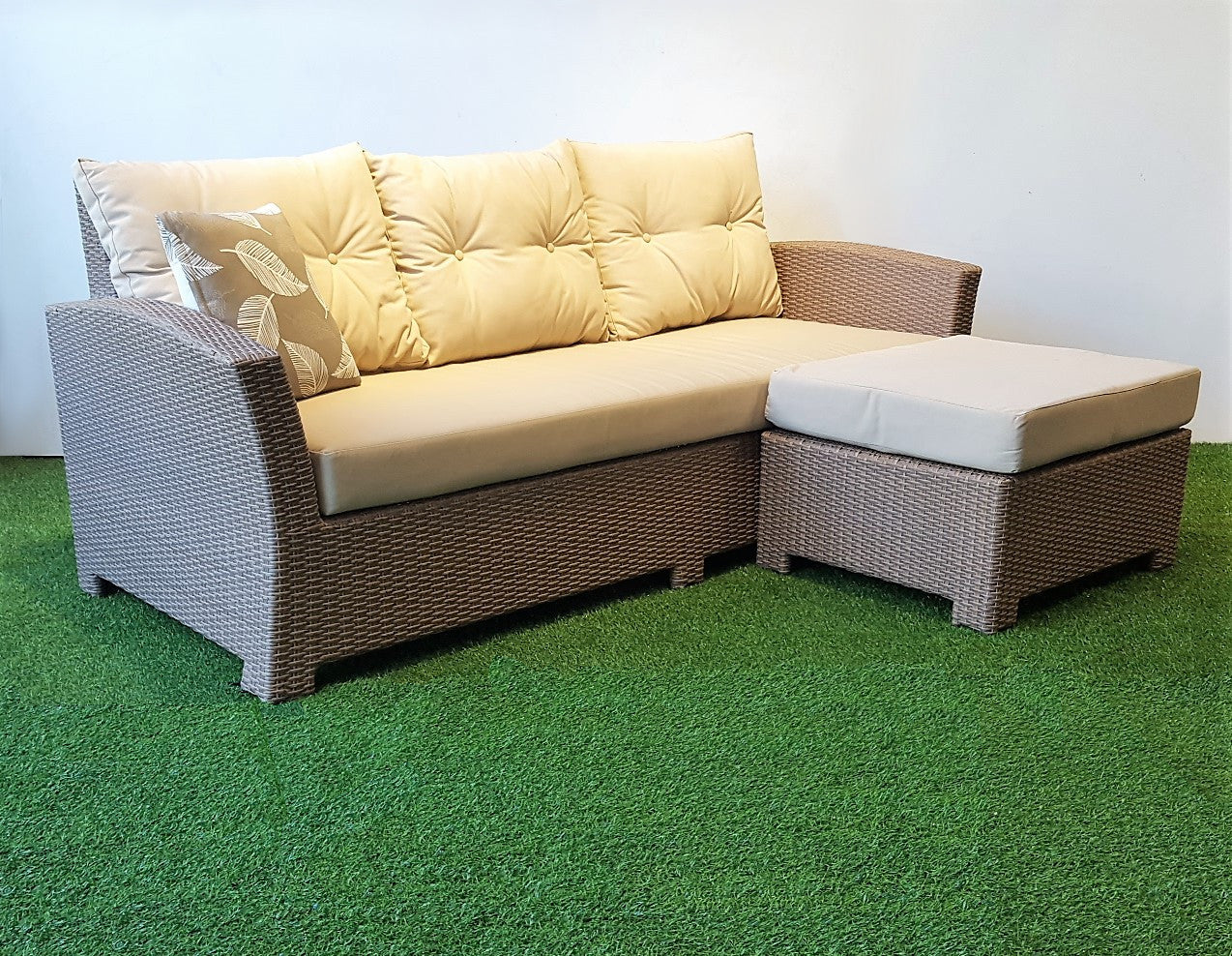 Miami Outdoor Sofa And Ottoman Set Hemma Online Furniture Store