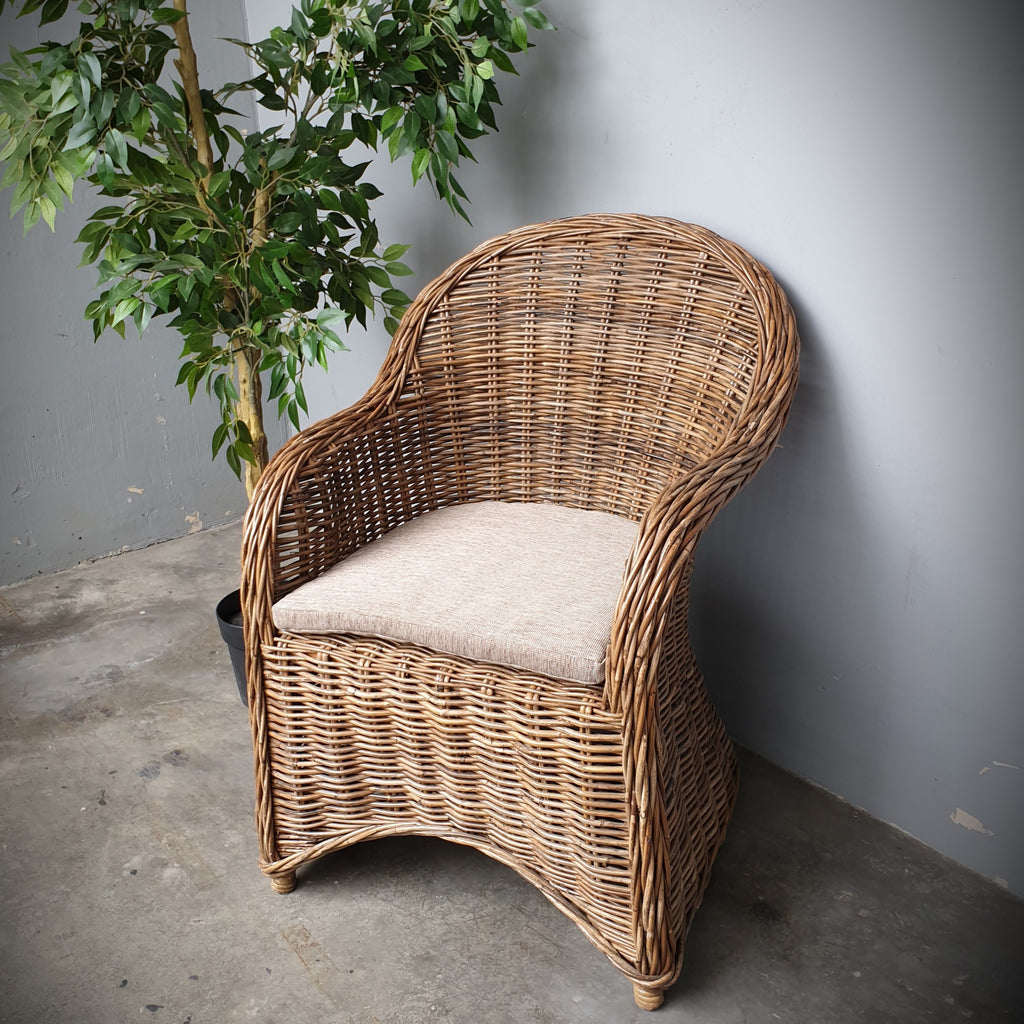 Rustique Natural Rattan Armchair.