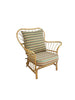 Freemantle 3 seater premium rattan sofa, stripey cushion