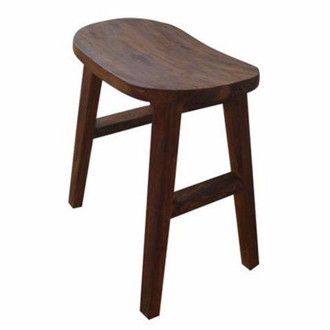 oval small teak stool