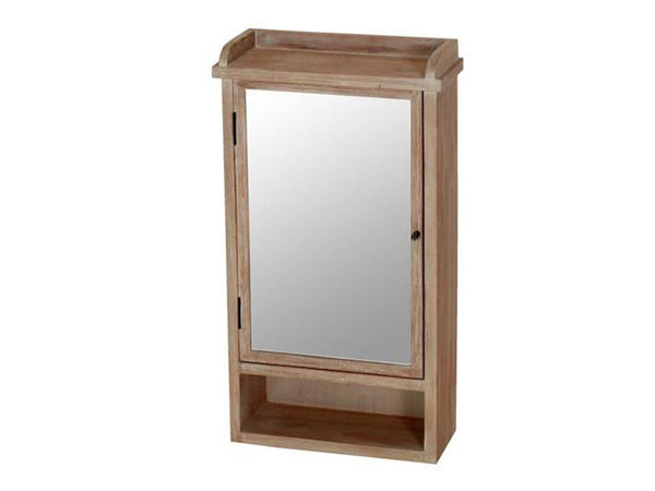 wooden jewellery key cabinet with mirror and hangers
