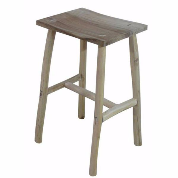 TRUNK wooden counter stool