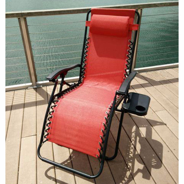 Red foldable reclining chair