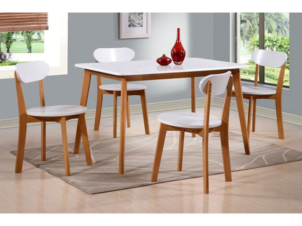 Femi 1+4 Rectangular Dining Set 120x75