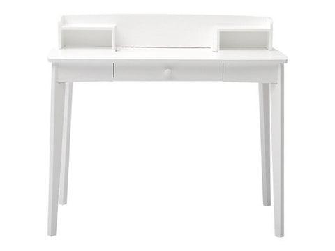 white small wooden writing desk
