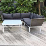 Riverside Outdoor wicker sofa lounge set