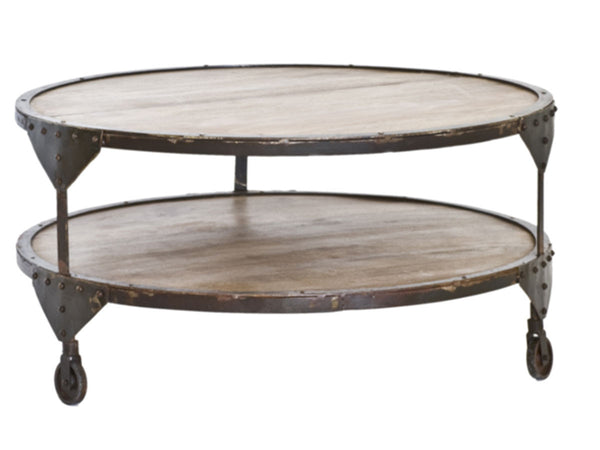 Bombay round reclaimed wood coffee table