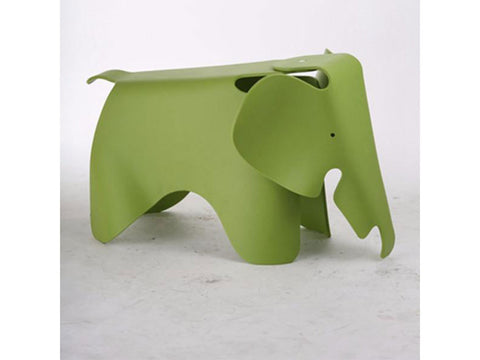 Decorative Elephant plastic stool, Green