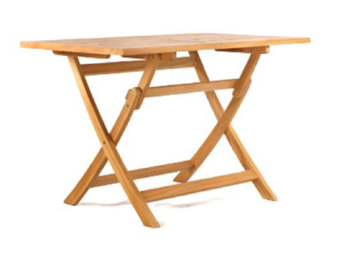 Teak folding table rectangular