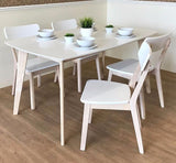 white scandinavian dining set singapore