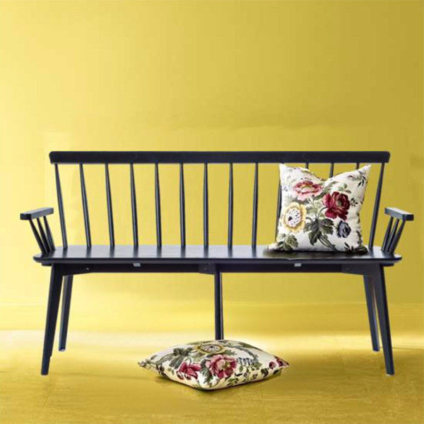 Linkoping wooden bench black