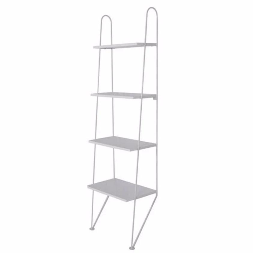 white retro metal string leaning shelves singapore
