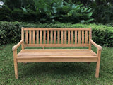 Landhaus outdoor teak bench 3 seater 160cm