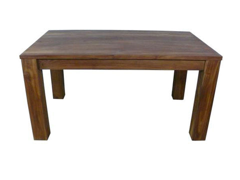 heavy Solid wood chunky legs teak dining table