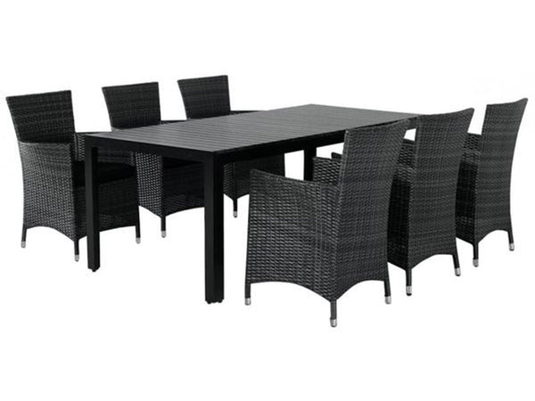 Outdoor dining set polywood and wicker singapore