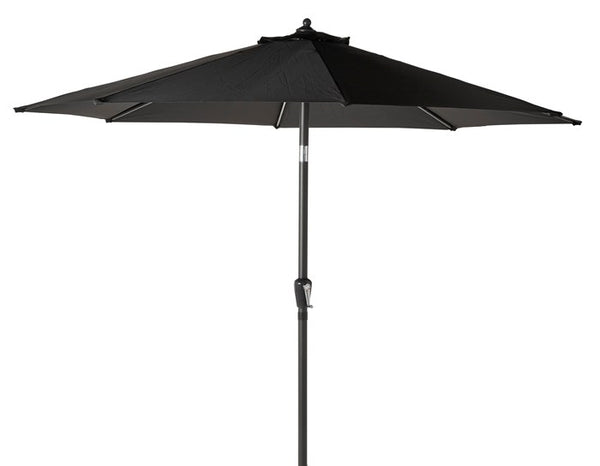 Gotland, parasol umbrella in black, 3m with granite foot