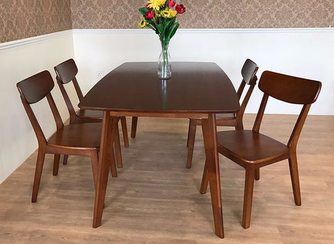 classic dining room set dark brown walnut