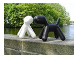 Plastic puppy sculpture chair, Black