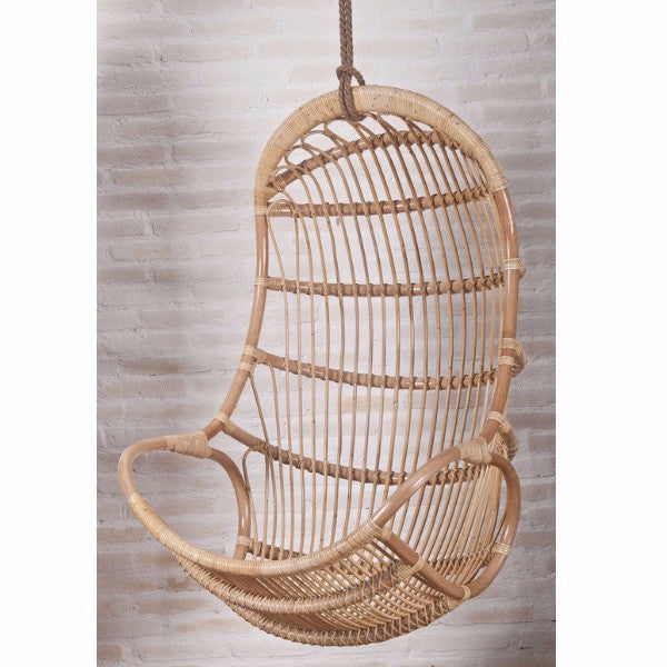 Sandra Hanging Rattan Swing Chair With Cushion Hemma