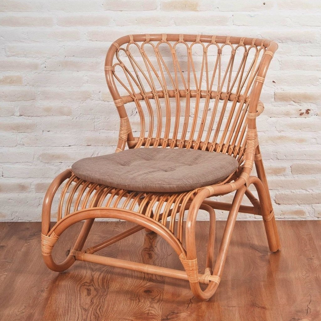 designer rattan lounge chair