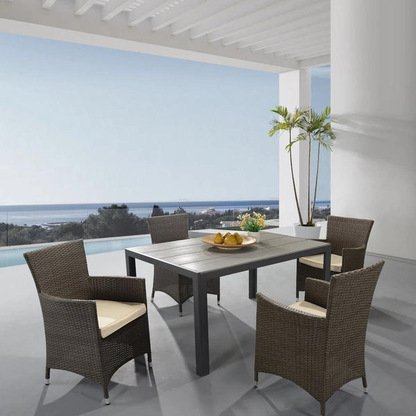 outdoor dining set with sythetic wood