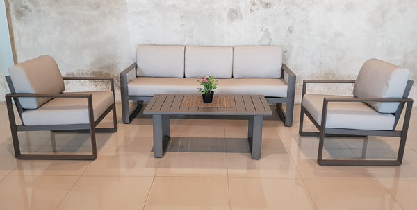 Aluminium outdoor sofa set