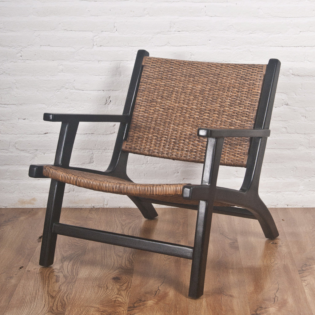 Miranda Teak Rattan Lounge Arm Chair