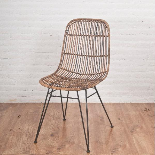 Espresso rattan dining chair, brown