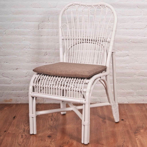 Andrey Rattan Dinning Chair w/ cushion, white