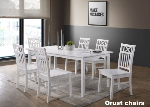 Gothenburg table 180x90 + 6 Orust chairs