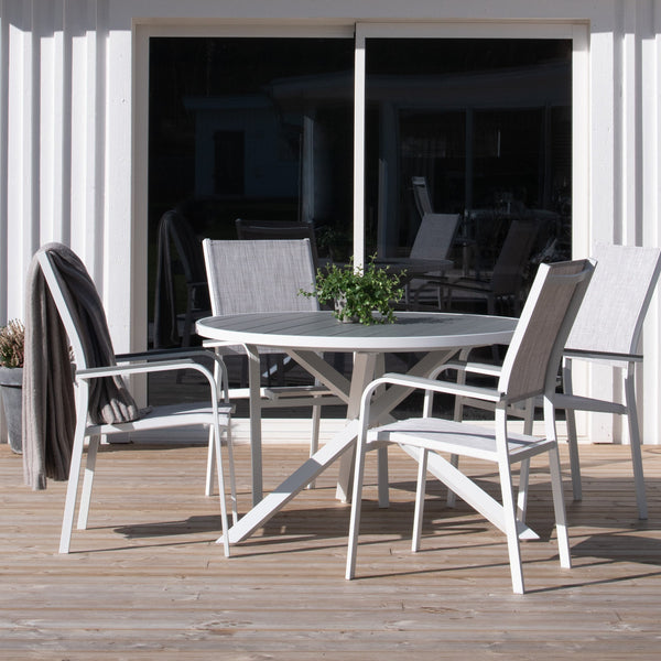 outdoor aluminium dining set
