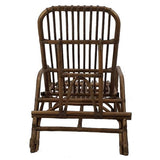 Honolulu Rattan Sun Lounger, Walnut with cushion