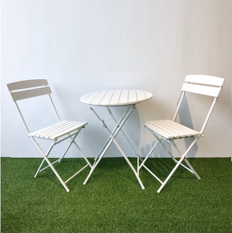 BISTRO folding outdoor cafe set, white